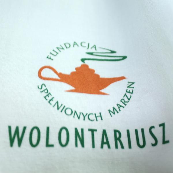 Koszulka Fundacji wolontariusz